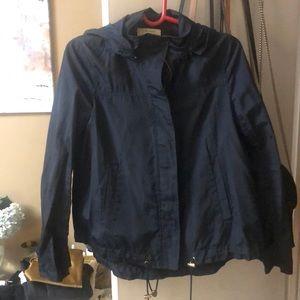 Zara navy blue rain coat